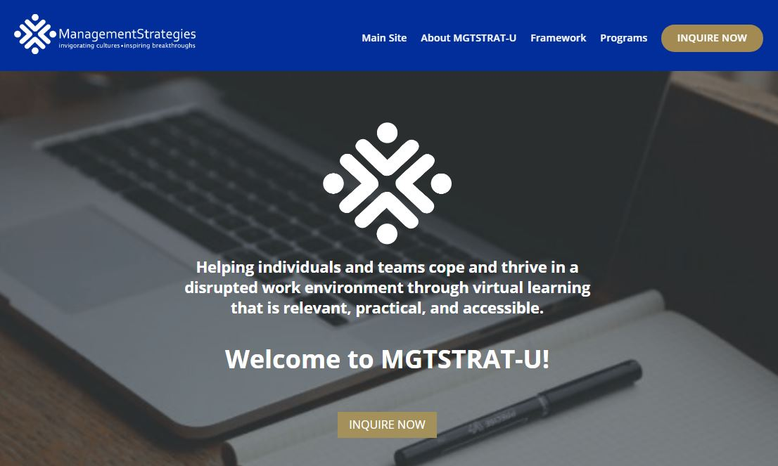 MGTSTRAT-U Landing Page