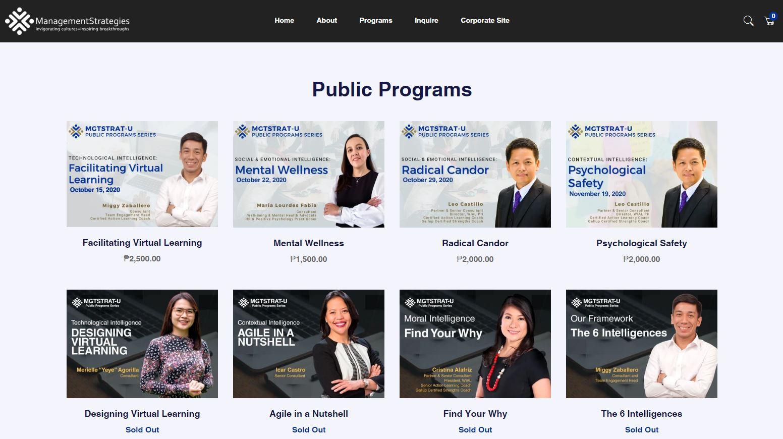 E-Commerce Platform For Mgtstrat-U